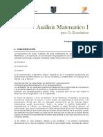Programa Análisis Mate Fce CIV 2018