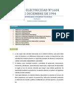 Resumen Ley de Electricidad Bolivia