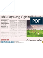 Agricultural Acreage in India 2017
