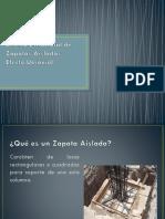 Diseño Estructural de Zapatas Aisladas Efecto Uniaxial Ejemplo de Clase