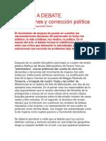 2018 EL ARTE a DEBATE. Instituciones y Corrección Política