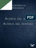 [Biblioteca Clasica Gredos 406] Alejandro de Afrodisias - Acerca Del Alma & Acerca Del Destino [42196] (r1.0)