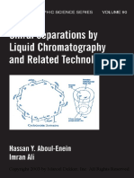 Chiral Separations by Liquid Chromatography Theory and Applications