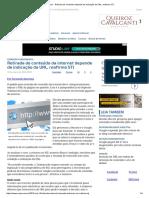 ConJur - Retirada de Conteúdo Depende de Indicação Da URL, Reafirma STJ