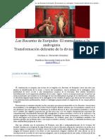 Carolina a. Navarrete González_ Las Bacantes de Eurípides_ El Menadismo y La Androginia. Transformación Delirante de La División Genérica- Nº 34 Espéculo (UCM)