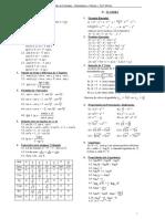Resumão de Fórmulas - Matemática e Cálculo- Resumida