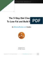 The 9 Step Diet Checklist