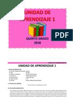 UNIDAD DE APRENDIZAJE  5° MARZO