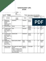Plan de Evaluación Lapso 1 Sep2015