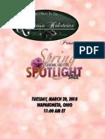2018 Spring Spotlight at Quietcove