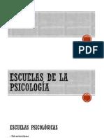 Escuelas de La Psicologia