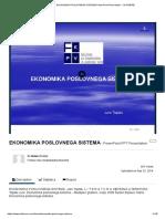 Ppt - Ekonomika Poslovnega Sistema Powerpoint Presentation - Id_4728785