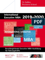 International Executive MBA, St. Galler Business School
