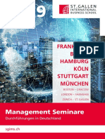 Management Seminare (Durchführungen in Deutschland), St. Gallen International Business School