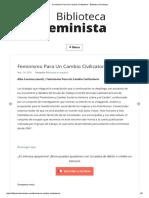 Feminismo Para Un Cambio Civilizatorio - Biblioteca Feminista.pdf