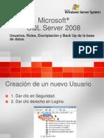Usuarios,Roles SQL 2008