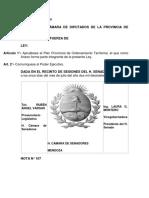 Ley de Ordenamiento Territorial Mendoza 2017