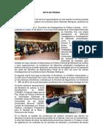 NOTA de PRENSA- Viaje Bgta Diana Restrepo