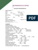 Valiação Fisioterapêutica e Testes Específicos