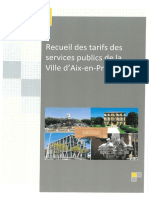 Comptabilité tarifs et droits divers 2018 Ville d'Aix