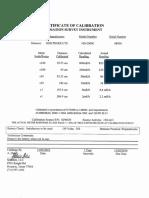 3. Certificación de Calibración de Intensimetros