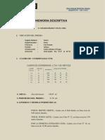 Memoria Descriptiva_PREDIO URBANO