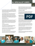 U.S. Army Medical Specialist Corps Fact Sheet