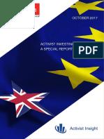 Activist Investing in Europe 2017