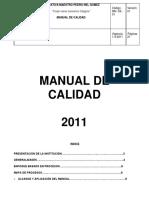 Manual de Calidad i e Maestro Pedro Nel Gomez.doc
