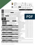 Pathfinder Rpg Character Sheet