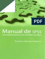 Manual de SPSS Con Aplicaciones a Las Ciencias Sociales