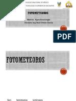Agroclimatologia. Fotometeoros. Unidad 1