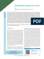 Transdermal Drug Delivery System an Overview