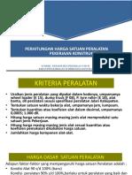 AHSP Biaya Peralatan