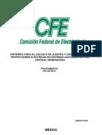 Criterios Para El Cálculo de Ajustes y Coordinacion de Proteciones CFE G0100-31