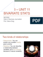 MCO552 Unit 11 -- Bivariate Stats