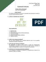 Cuestionario Artículos. Cultivo celular