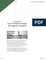 Los 10 mejores blogs de yoga en español - Insayoga