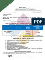 Propuesta Curso y Certificación Cobit 5 Fundamentos Semanal