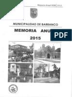 Memoria Anual 2015 BARRANCO