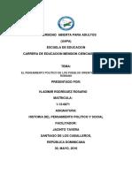 Cuaderno Practico I. Tarea II. Historia del pensamiento político y social