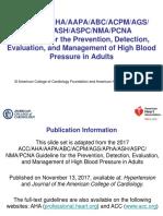 2017 Blood Pressure Guideline 1