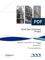 Specs for NG -MFO Fired Thermal Oil Heater