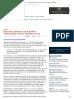 ConJur - Lisiane Schmidel_ a Rescisão Contratual Do Trabalho Intermitente