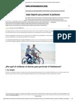 El Ciclismo Podría Ser El Mejor Deporte Para Prevenir El Parkinson _ Entrenamiento