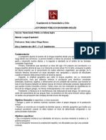 Trad - Lengua Española II