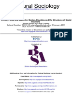 Bottero and Crossley-Worlds, Fields and Networks, Becker, Bourdieu and the Structures of Social Relations(2)