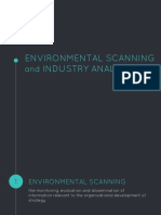 Environmental Scanning and Industry Analysis Report