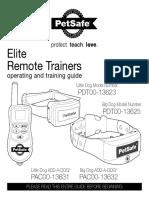 Petsafe Pdt00 13623 13625 Elite Remote Trainer Manual