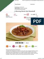 Resep Menu Buka Puasa - Resep Masakan Khas Indonesia - Resep Masakan Khas Indonesia